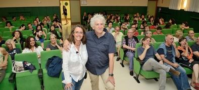 Elena Santos y Juan Luis Arsuaga impartieron la conferencia que clausuró este ciclo el pasado 20 de julio.