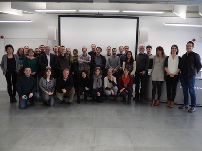 Participantes en el workshop, entre los que están los miembros del EIA mencionados en el texto, y María Martinón-Torres (del University College de Londres, UCL)