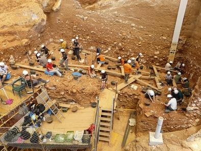 Excavadores en Gran Dolina