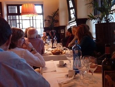 Eudald Carbonell durante el desayuno sobre evolución humana celebrado en Barcelona