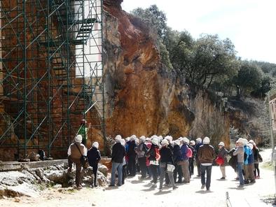 Visitantes en las yacimientos de Atapuerca