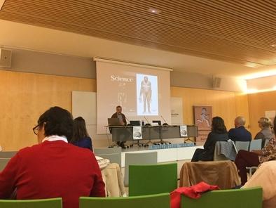 José María Bermúdez de Castro inauguró la jornada Desde Atapuerca hasta el párkinson de nuestros días en el Museo de la Evolución Humana