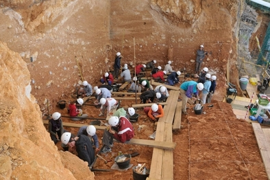 Nivel TD10 del yacimiento de Gran Dolina (sierra de Atapuerca)