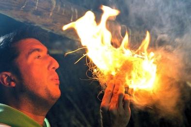 David Canales, técnico superior en arqueología experimental de la Fundación Atapuerca