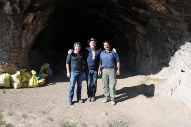 De izquierda a derecha: Andreu Ollé, Eudald Carbonell y Behrouz Bazgir