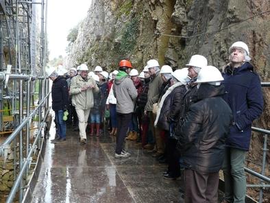 Profesores durante su visita a los yacimientos de Atapuerca