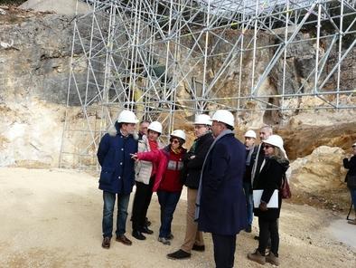Enrique Saiz, director general de Patrimonio de la Junta de Castilla y León, inauguró la cubierta de Cueva Fantasma el pasado 10 de diciembre.