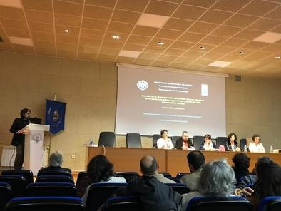 Jaime Lira, durante la presentación de su tesis doctoral.
