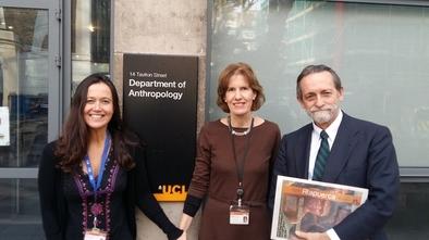 María Martinón-Torres, Susanne Kuechler y José María Rodríguez-Ponga