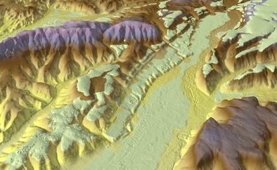 Distribución de las terrazas fluviales en el valle del río Arlanzón, en torno a la sierra de Atapuerca