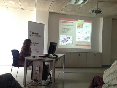 María Soto durante la presentación de su tesis doctoral