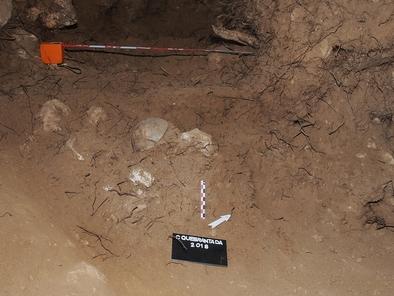 En la Cueva de La Quebrantada se han encontrado varios fósiles humanos, entre ellos varios cráneos.