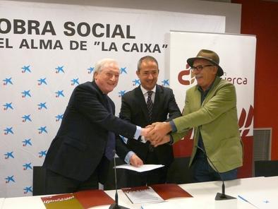Firma del convenio entre la Obra Social