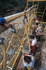 Instalación de lavado, secado y triado de sedimento